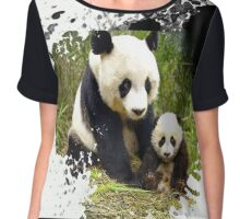adorable pandas Chiffon Top