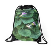 Wild Morning Glories Drawstring Bag