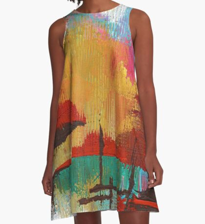 Fire in the Sky A-Line Dress