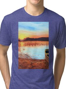 Sunset on The Marshes Tri-blend T-Shirt