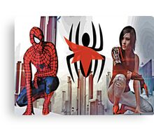 Spider-Man and Faith Connors  Canvas Print