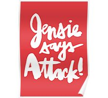Jensie Says Attack! Light Poster