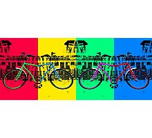 Coloured Bicycles Photographic Print