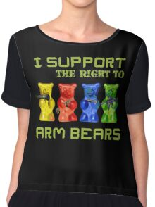 I Support the Right to Arm Bears, Gummy Bears Chiffon Top