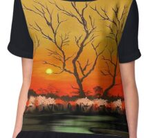 The Evening Sunset View Chiffon Top