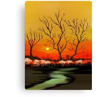 The Evening Sunset View Canvas Print