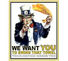 Uncle Sam Terrible Towel Photographic Print