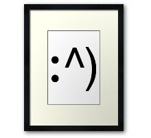 Geek Code Face Button Framed Print
