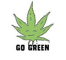 Go green Photographic Print
