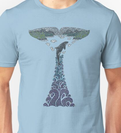 Orca whale tail illustration Unisex T-Shirt