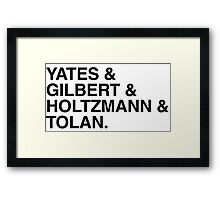 The New who you gonna call? Framed Print