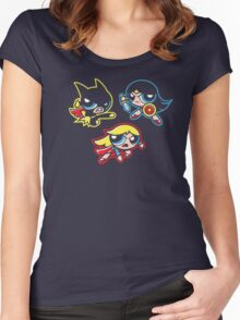 Powered-Up Girls Women's Fitted Scoop T-Shirt
