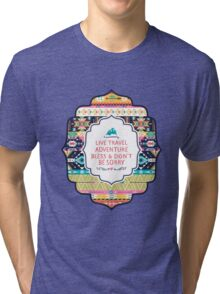 Seamless pattern in native american style Tri-blend T-Shirt