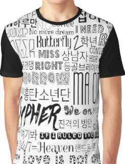 BTS Song design #1 Graphic T-Shirt