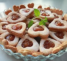cookies hearts with sweet filling by mrivserg