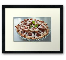 cookies hearts with sweet filling Framed Print