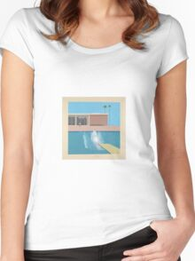 David Hockey - A Bigger Splash Women's Fitted Scoop T-Shirt