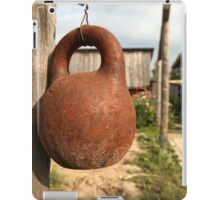 old kettlebell iPad Case/Skin