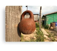 old kettlebell Canvas Print