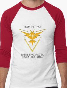 Team Instinct Design - Pokemon GO Men's Baseball ¾ T-Shirt