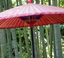 Japanese Umbrella among the Bamboo Sticker