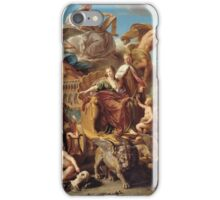 Pompeo Girolamo Batoni - The Triumph Of Venice 1737. People portrait: party, woman and man, Venice, family, female and male, peasants, crowd, romance, women and men, city, home society iPhone Case/Skin