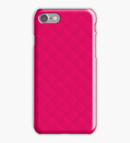 Hot Neon Pink Puffy Stitch Quilt iPhone Case/Skin