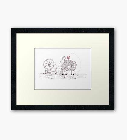 Tangled Spinner in the Flock Framed Print