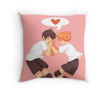 Haikyuu!! Air Kiss Throw Pillow