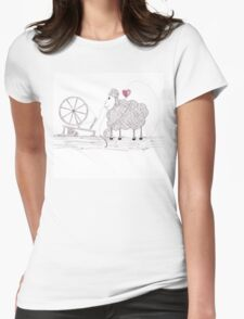 Tangled Spinner in the Flock Womens Fitted T-Shirt