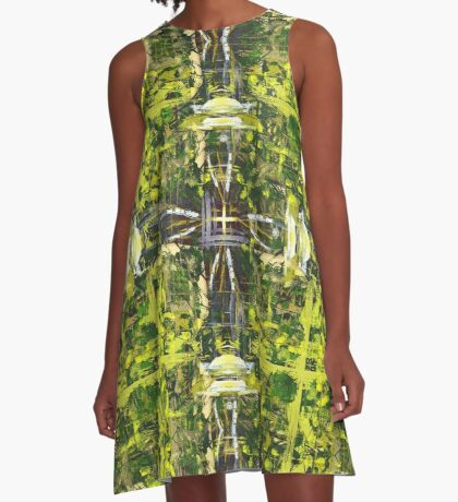 Forest Treetops A-Line Dress