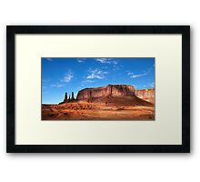 Three Sisters, Monument Valley, Arizona. Framed Print