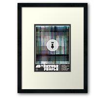 Adventure People: Glitch Framed Print