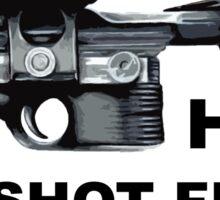 Han shot first (DL-44) Sticker
