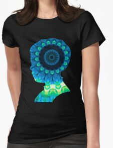 Cloud Kaleidiscope Womens Fitted T-Shirt