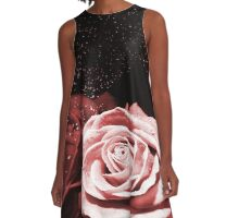 Starlit Roses A-Line Dress