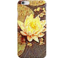 waterlily in autumn colours iPhone Case/Skin