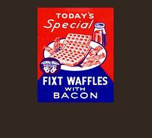 Vintage Waffles and Bacon Unisex T-Shirt