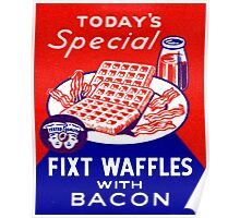 Vintage Waffles and Bacon Poster