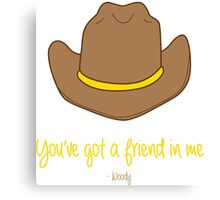 Woody quote Canvas Print