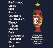 Portugal Euro 2016 Champions Final Squad One Piece - Short Sleeve