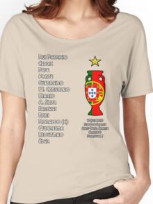 Portugal Euro 2016 Champions Final Squad Women's Relaxed Fit T-Shirt