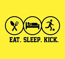 Eat Sleep Kick tshirt for soccer fans by tshirtbaba