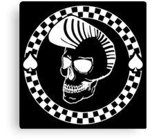 Rockin' Skull - white print Canvas Print