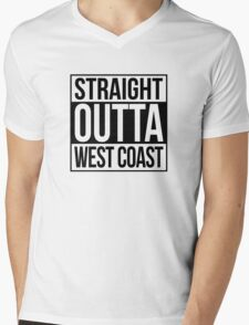 Straight Outta West Coast Mens V-Neck T-Shirt