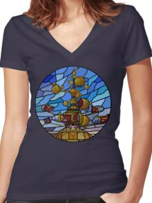 Orbitron: Les Machines Volantes Women's Fitted V-Neck T-Shirt