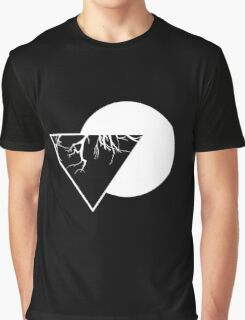 Geometric Triangula II Black Graphic T-Shirt