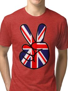 Peace British Style Tri-blend T-Shirt
