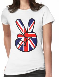 Peace British Style Womens Fitted T-Shirt