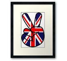 Peace British Style Framed Print